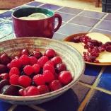 Berries, Gouda & Some Warm Lemon Water